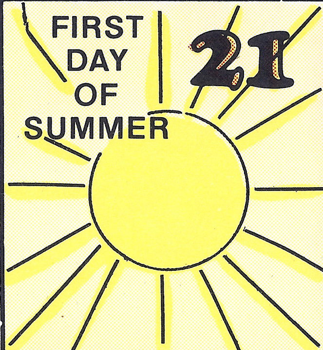 June 21 First Day of Summer